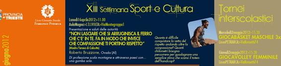 Robydamatti torna a Trieste – Progetto Sport e Cultura