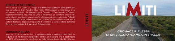 """Limiti – Cronaca riflessa di un viaggio """"Gamba in Spalla"""""""